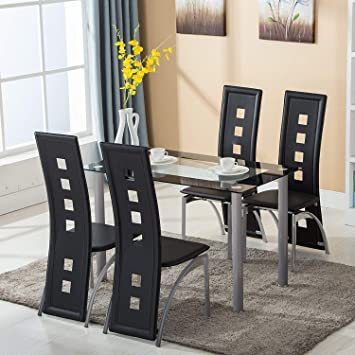 Glass Dining Table Set For 2