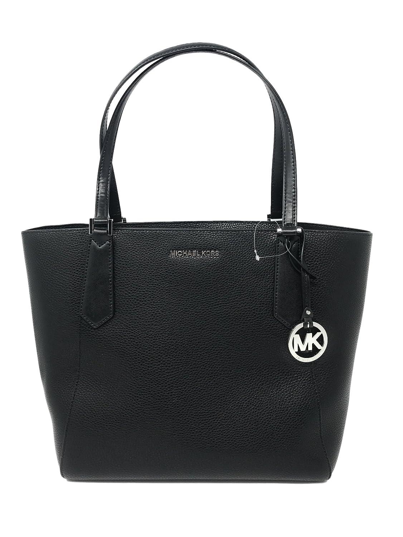d927c489bf58e4 Amazon.com: Michael Kors Kimberly LG Bonded Leather Tote Bag in Black:  Clothing