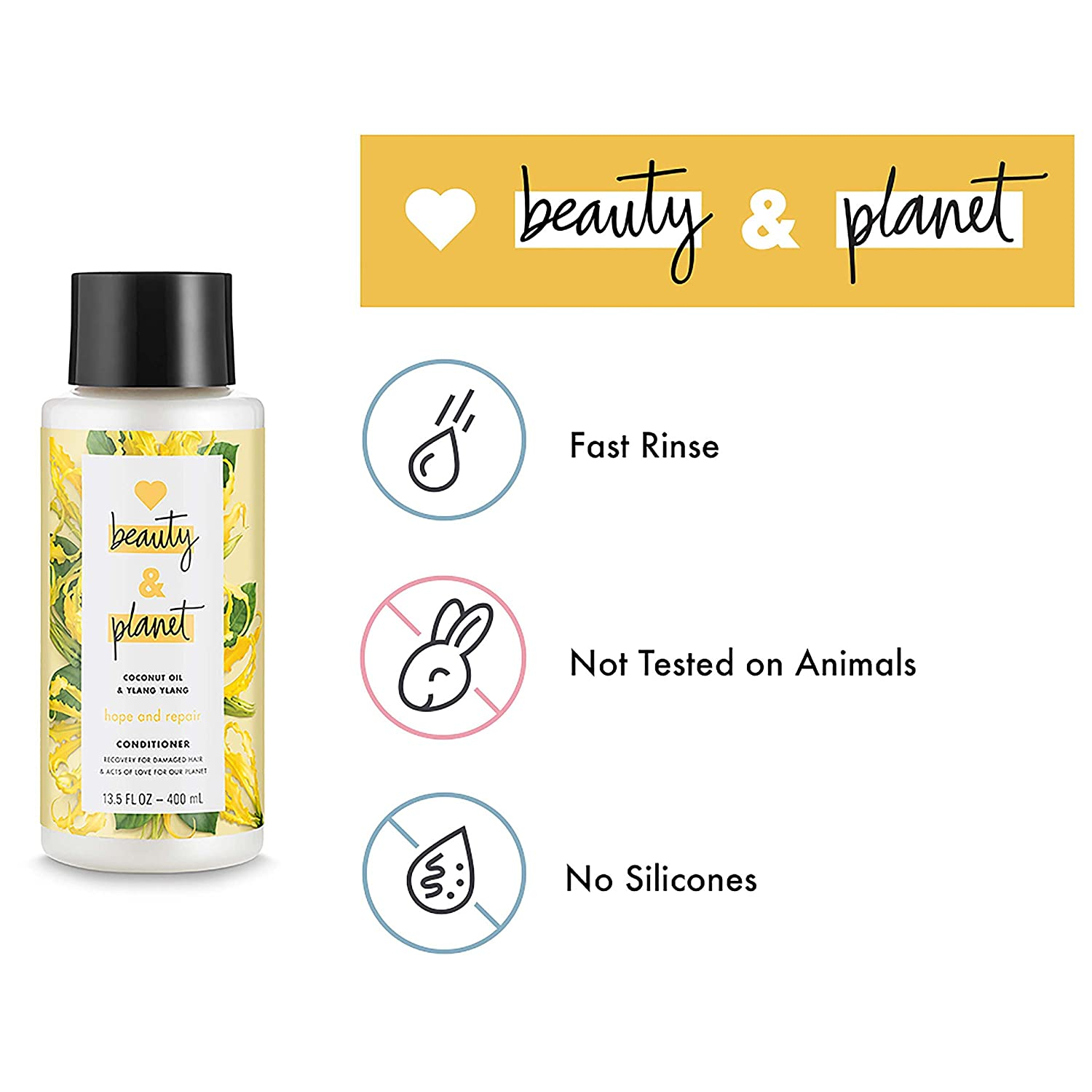 Amazon Love Beauty And Planet Shampoo and Conditioner Coconut