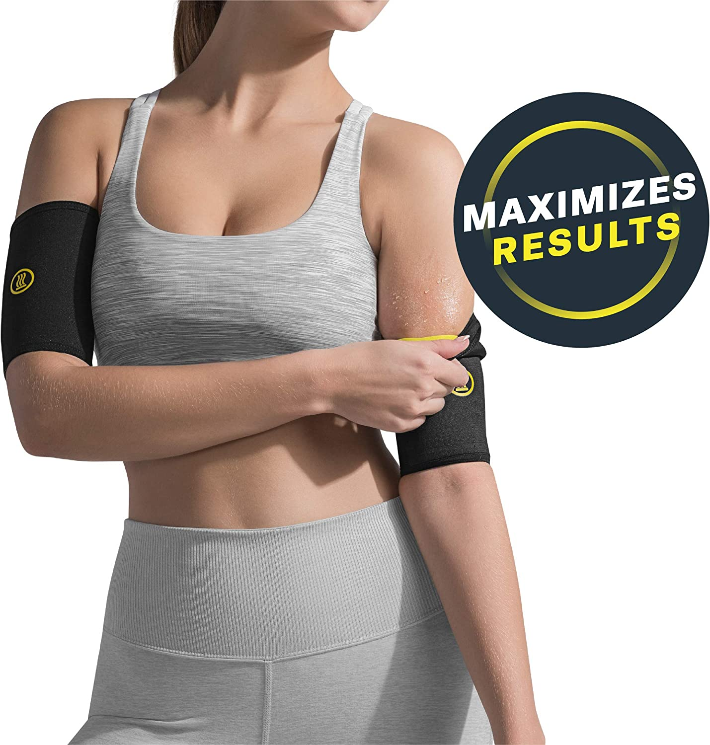 HOT SHAPERS Arm Sleeves Two Compression Sleeves for a Womens Workout to Lose Fat Bicep Trimmers and Slimmers Equipment Accessories for Weight Loss Gym Exercises