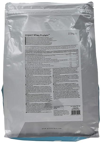 MyProtein Impact Whey Proteína de Suero, Sabor Vainilla - 2500 gr: Amazon.es: Salud y cuidado personal