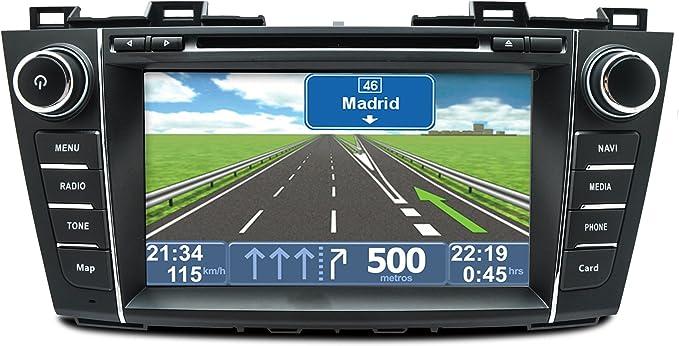 Radio Navegador 2 DIN específico para Mazda 5 +2010 en adelante ...