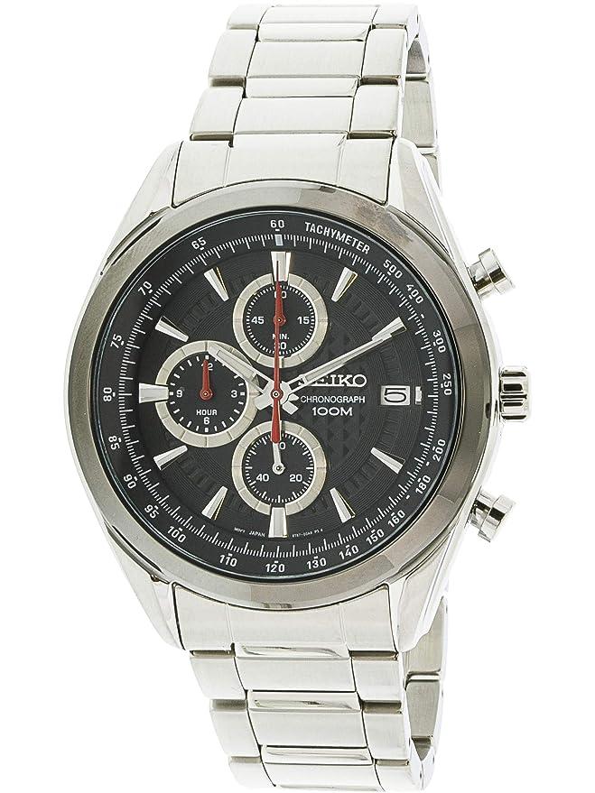 Seiko De los hombres ssb201 plata reloj de buceo de cuarzo japonés de acero inoxidable: Seiko: Amazon.es: Relojes