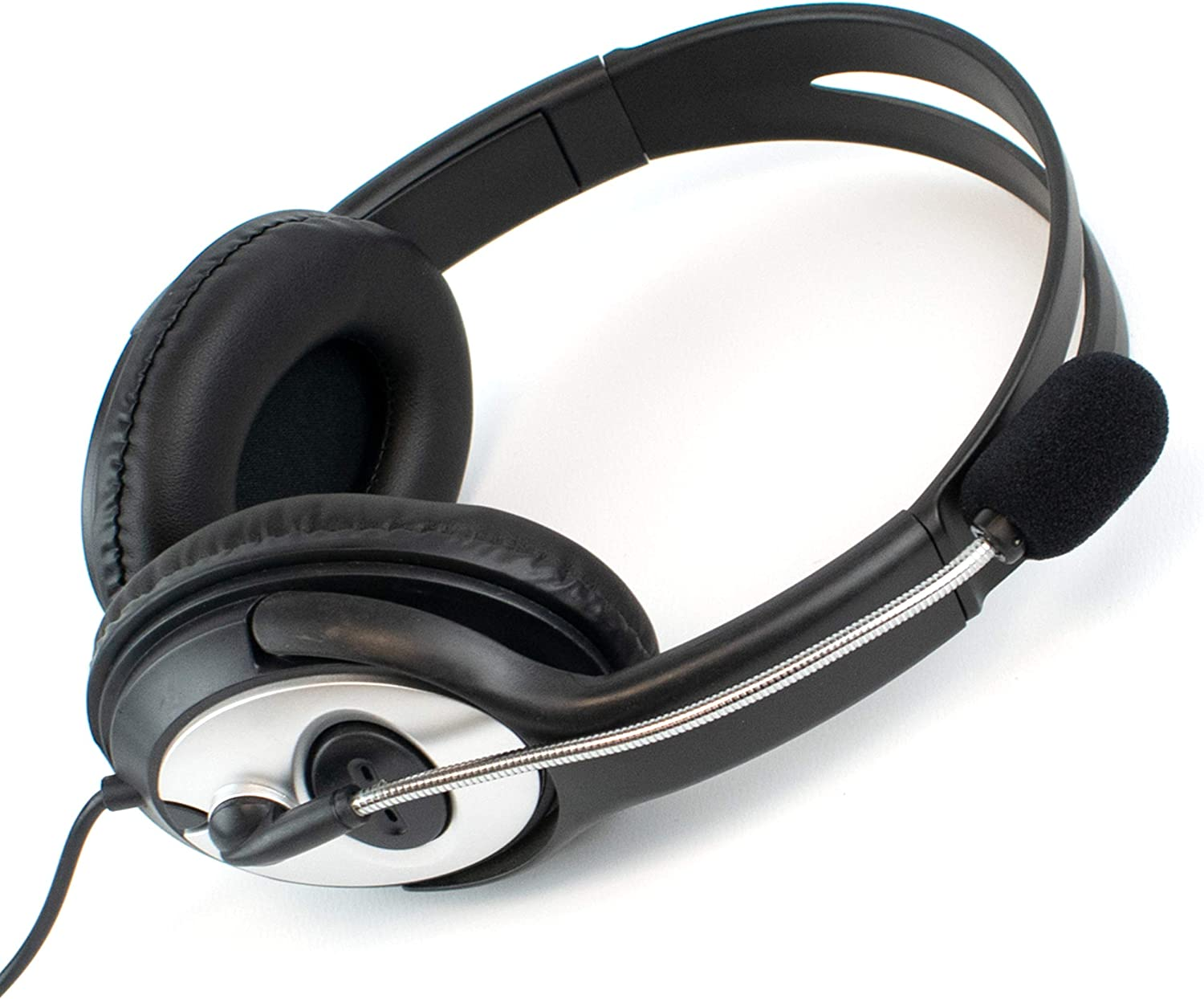 Over-Ear Overhead Stereo Headphones and Mic I-CHOOSE LIMITED USB Computer Laptop Headset with Microphone Skype or Zoom PC Live Chat Volume Control