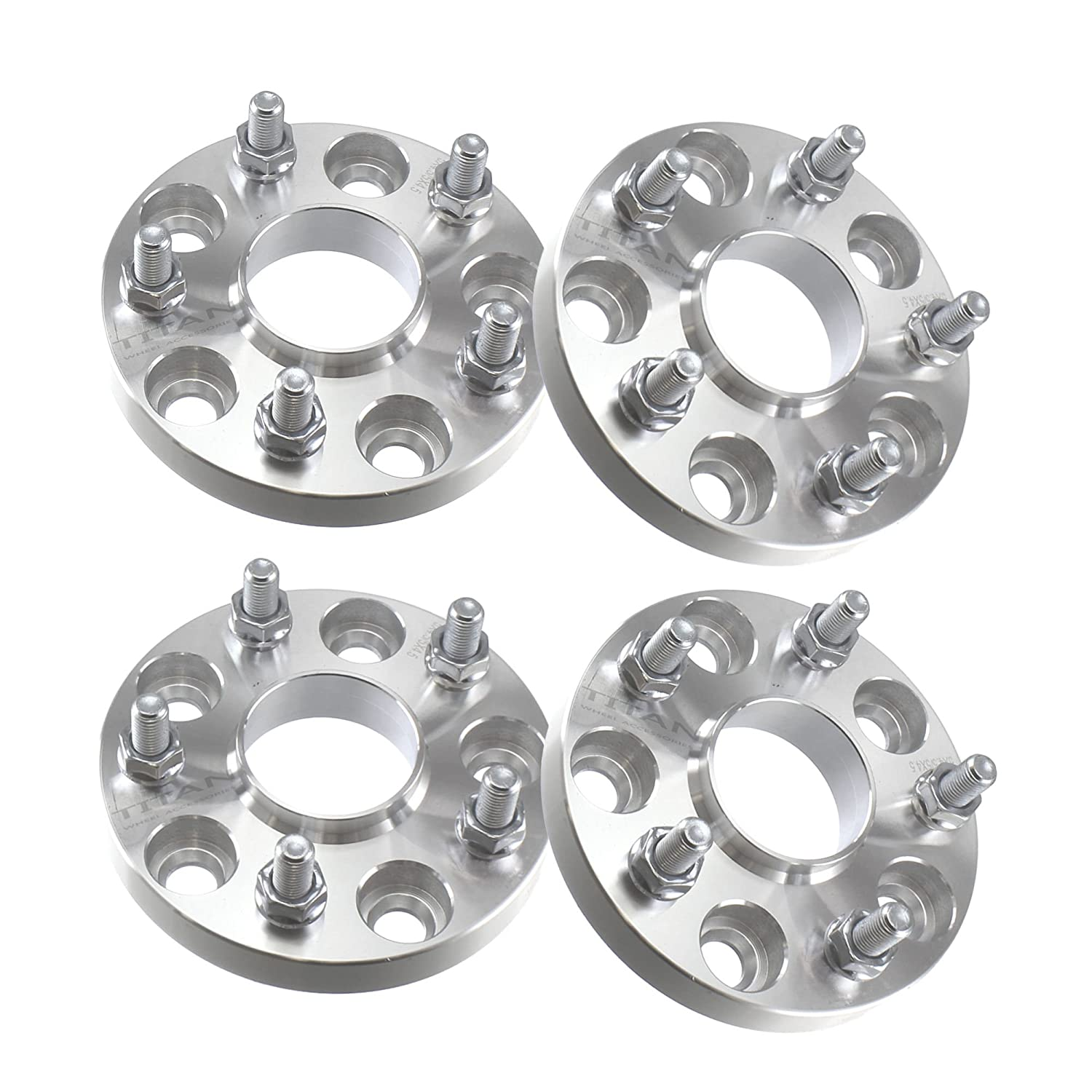 (4) 20mm 5x114.3 Hubcentric Wheel Spacers (67.1mm Bore) Fits Mitsubishi Lancer Evo & Others Titan Wheel Accessories