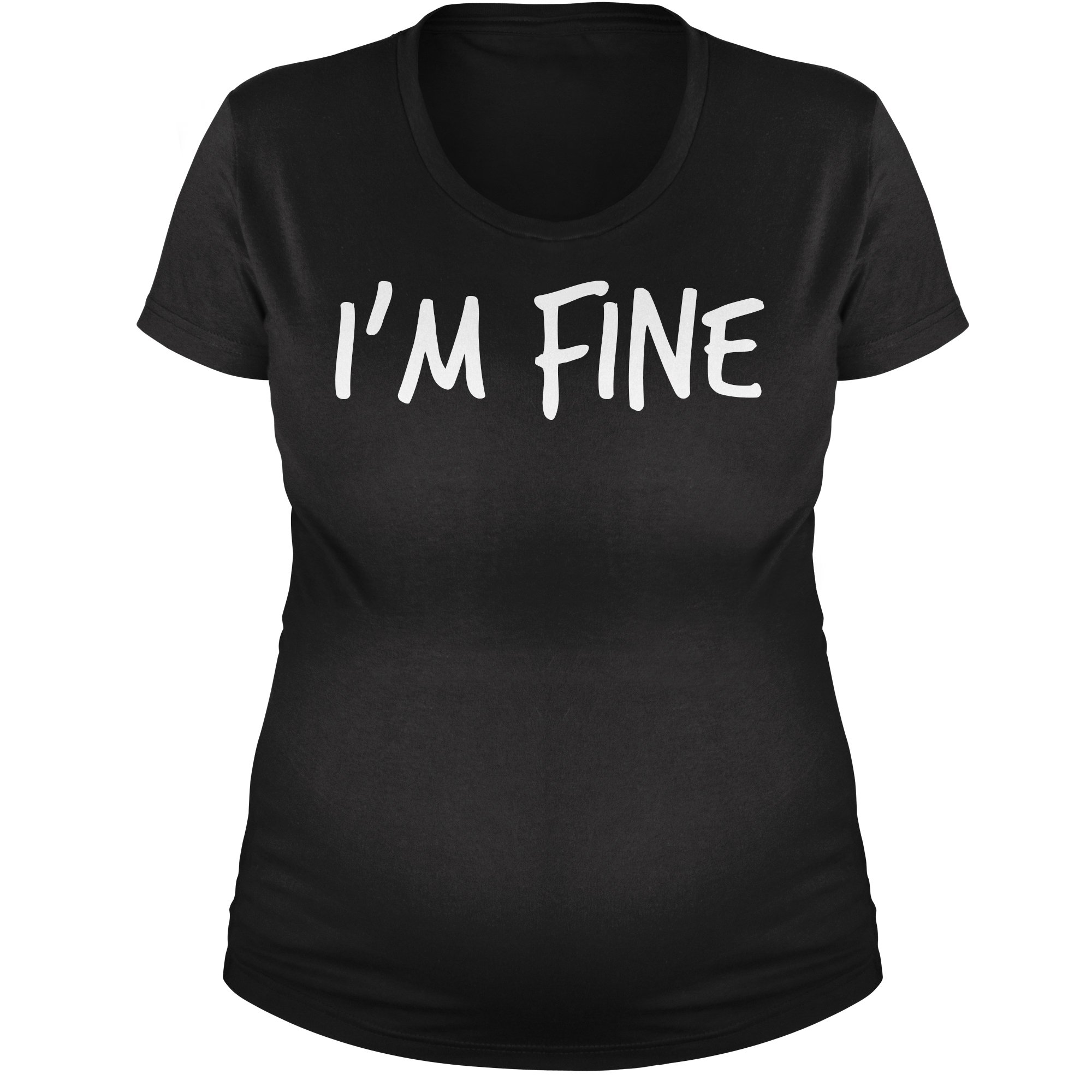 Expression Tees Maternity I'm Fine T-Shirt 3XL Black