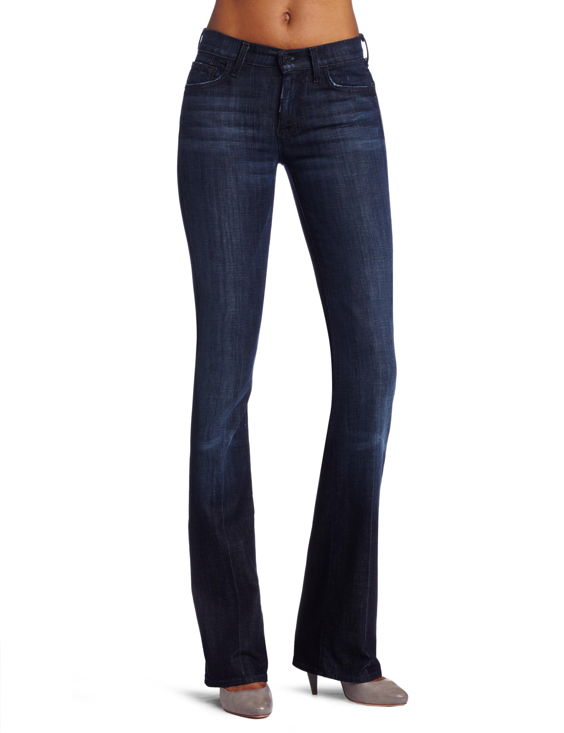 7 For All Mankind Women's Midrise Boot Cut Jean in Los Angeles Dark, Los Angeles Dark, 24