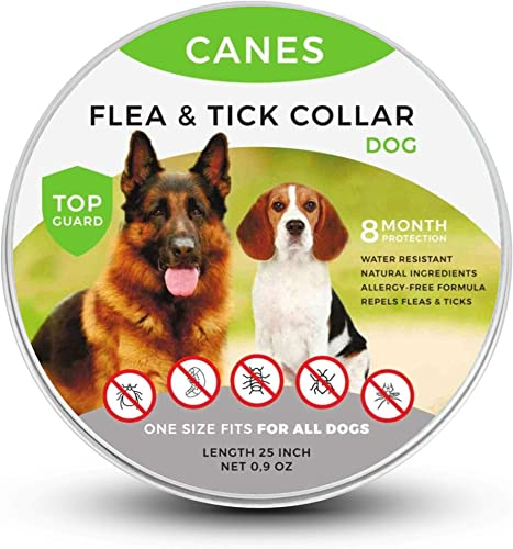 SOBAKEN-Flea-and-Tick-Prevention-for-Dogs,-Natural-and-Hypoallergenic-Flea-and-Tick-Collar-for-Dogs,-One-Size-Fits-All,-25-inch