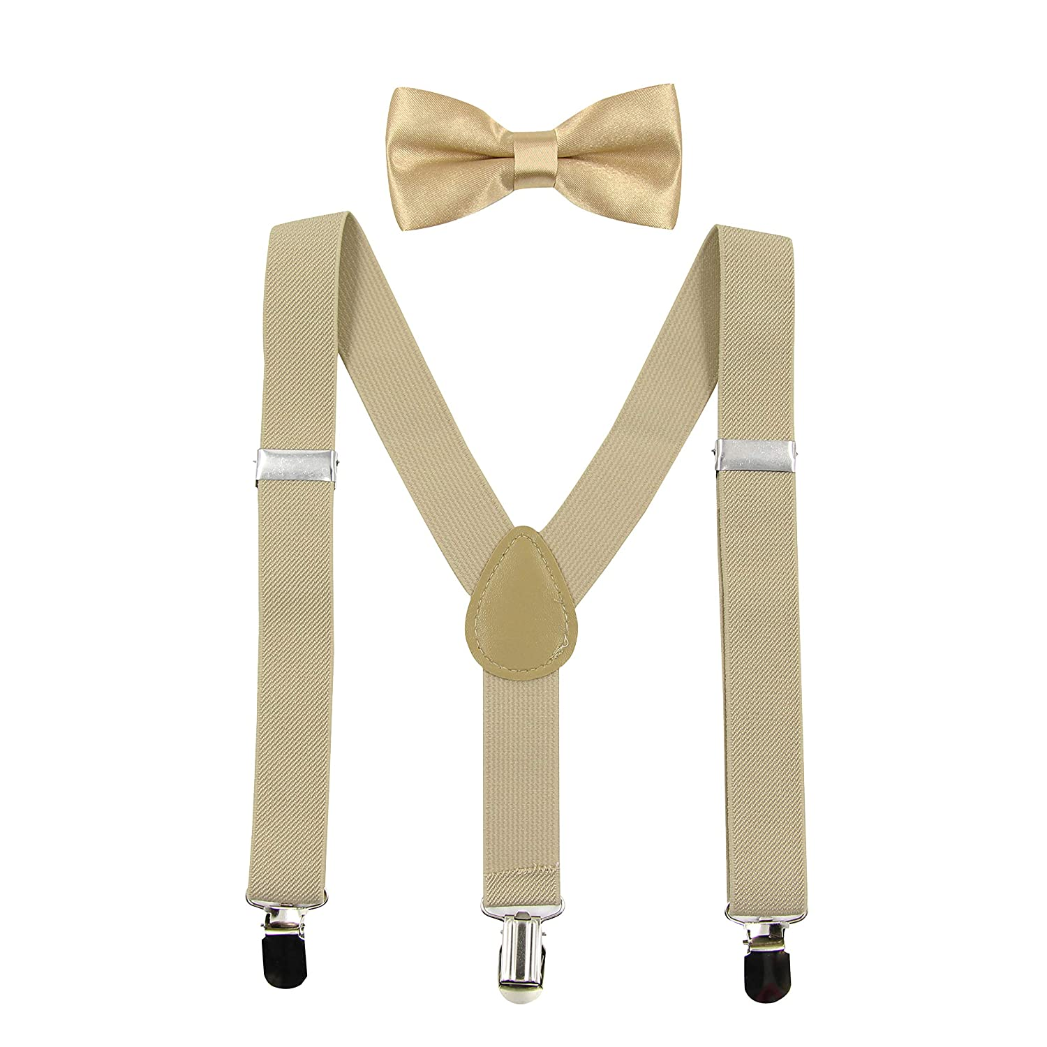 c505cc5a0e4c9 HANERDUN Kids Braces Bowtie Sets Adjustable Suspenders With Bow Ties Gift  Idea For Boys And Girls
