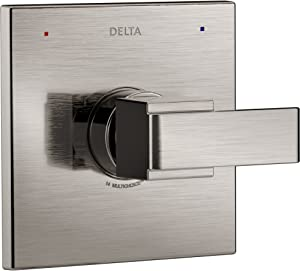 Delta Faucet Ara 14 Series Single-Function Shower Handle Valve Trim Kit, Stainless T14067-SS (Valve Not Included)
