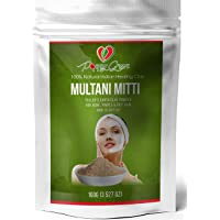 Multani Mitti Powder - Fullers Earth Clay Natural Facial Mask by Poppy green 100g
