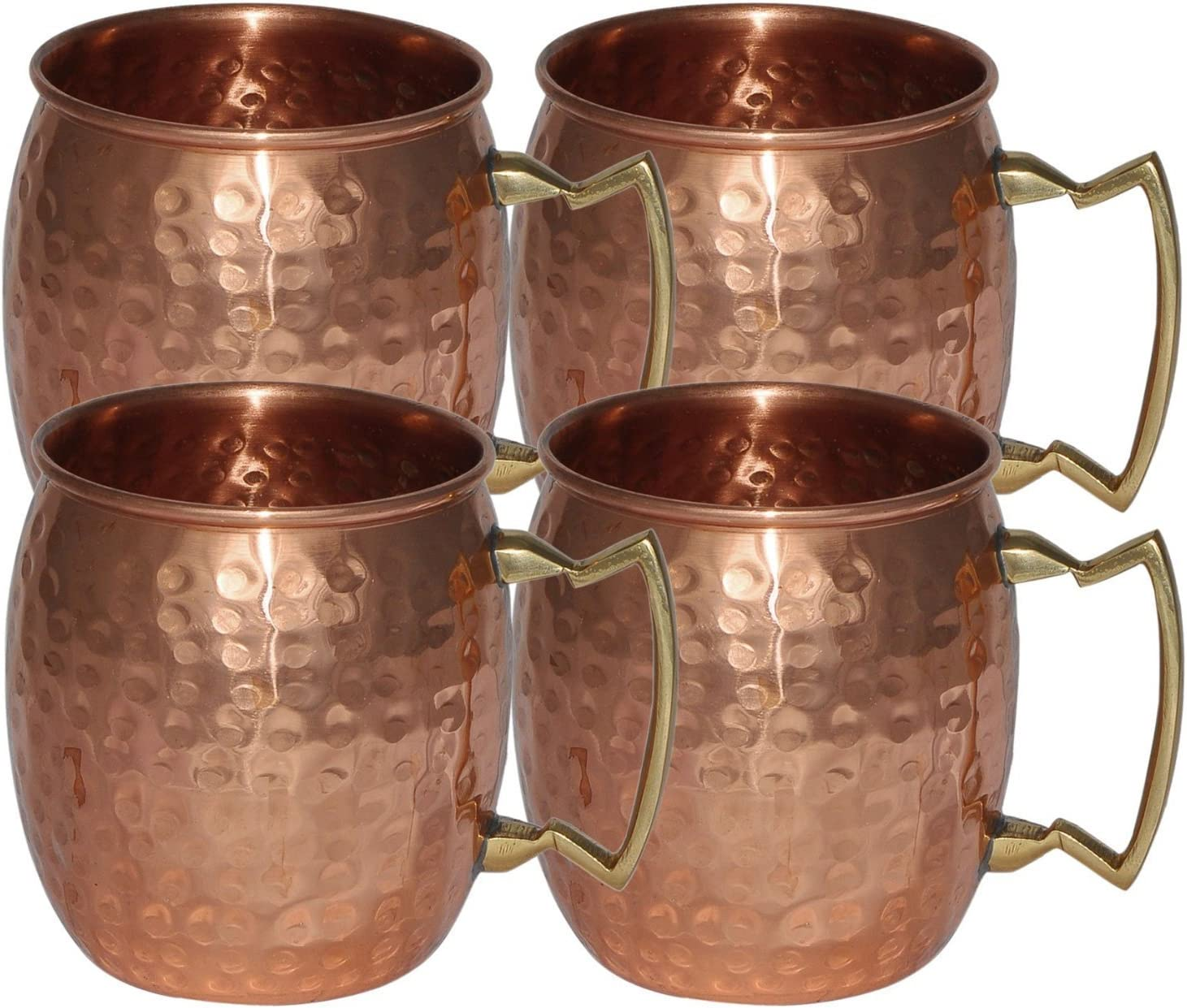 16 Oz Handmade Hammered 2 Pack 100/% Pure Copper Moscow Mule Mugs Drinking Cup