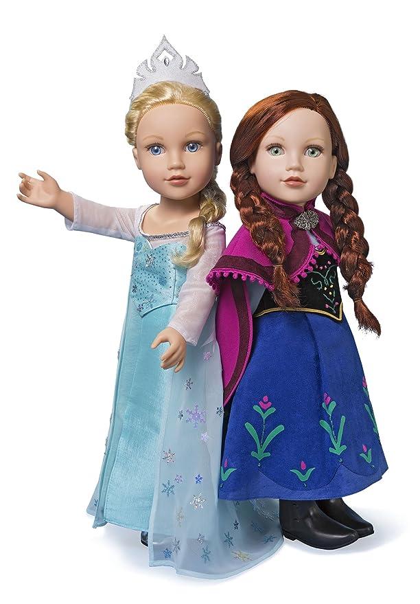 Simplicity 1217 Größe OS Frozen Kostüme für 18 Puppe, Schnittmuster ...