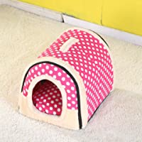 Vabell Hundebett Katzenbett Faltbar Tragbar Outdoor/Indoor Hundehöhle Hundehütte