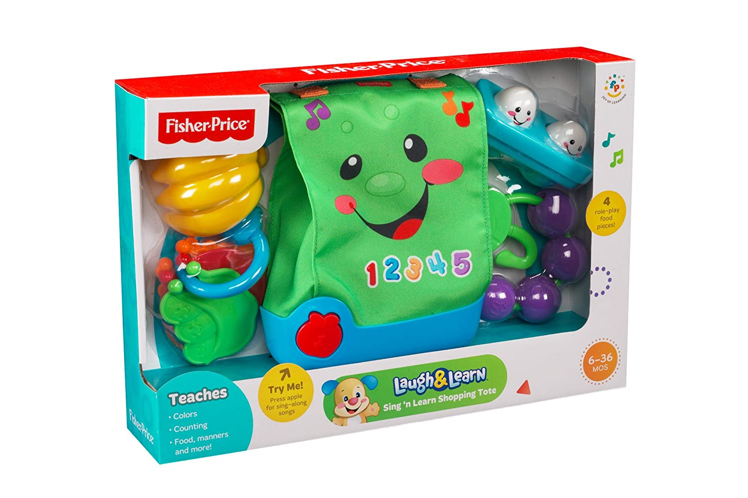 Fisher-Price Laugh & Learn Sing n Learn Shopping Tote by Fisher-Price: Amazon.es: Juguetes y juegos