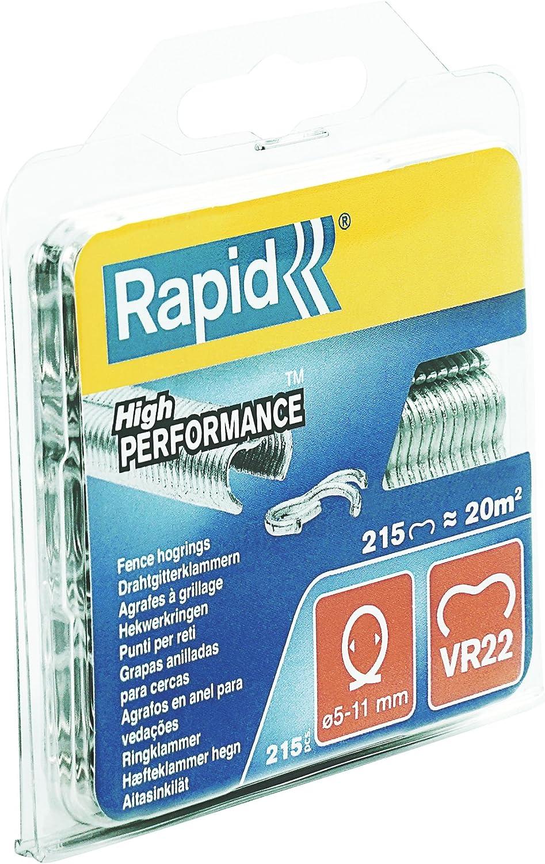 Rapid VR22 Fence Hog Rings Pack 1600 Galvanised Boxed