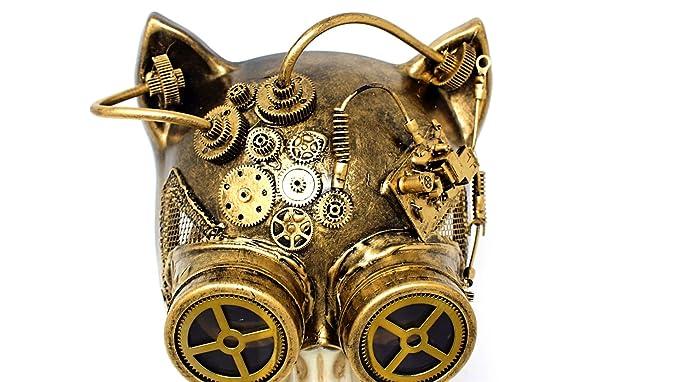 amazon com steampunk cat mask mechanical half cat woman skull face