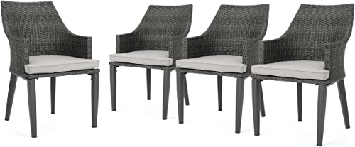 Hilary Outdoor Grey Wicker Dining Chair