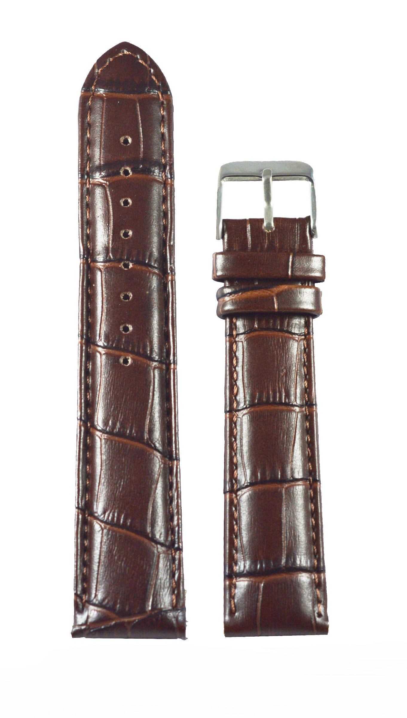 Like 22 Mm Croco Leather Padded Watchband (Brown) (B01DF1XM4G) Amazon Price History, Amazon Price Tracker