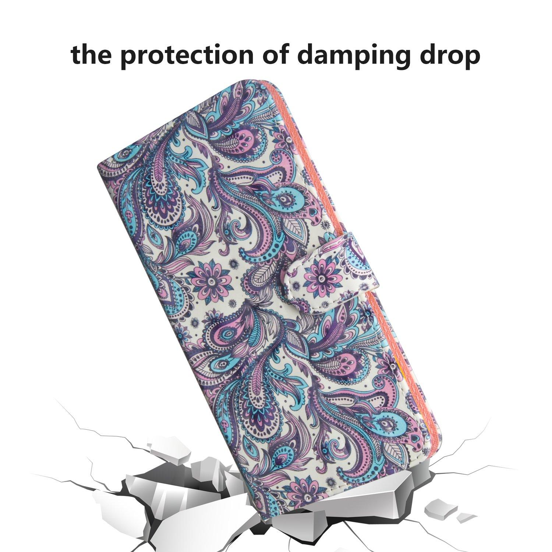 ZCXG Kompatibel mit Handyh/ülle Samsung Galaxy S10e H/ülle Leder 3D Bunt Muster Stand Magnetisch Flip Cover Silikon Bumper Case Tasche Klapph/ülle Geldb/örse Design Schutzh/ülle,Eule