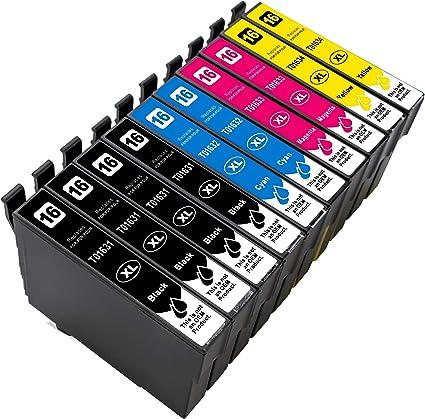 10 Cartuchos XL de Tinta compatibles con Epson Workforce WF2010 ...