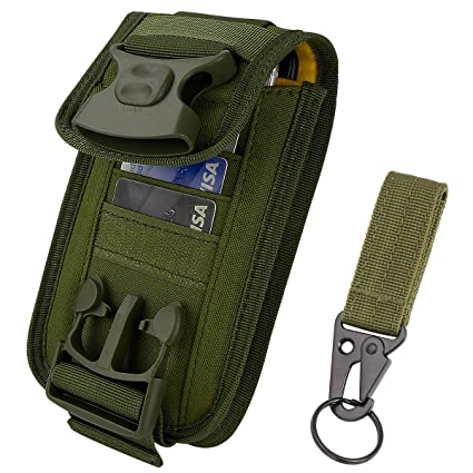 Amazon.com: IronSeals 2 Pouch Fasten Lock Card Holder Organizer, EDC Utility Gadget Pouch Cellphone Holster Tactical Belt Waist Gear Bag with Card Slots for ...
