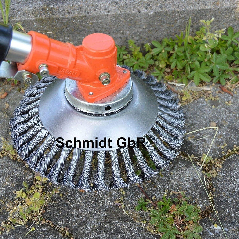 Wildkrautbürste Unkrautbürste Drahtbürste Freischneider Motorsense 175 x 25,4 mm