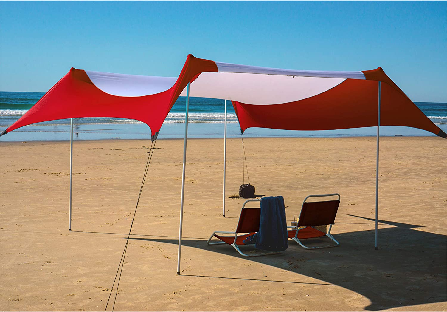 Red Suricata Family Beach Sunshade