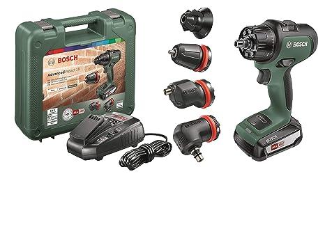 Bosch - Atornillador combinado a batería AdvancedImpact 18 (1 batería, sistema de 18 V, con accesorios, en caja)
