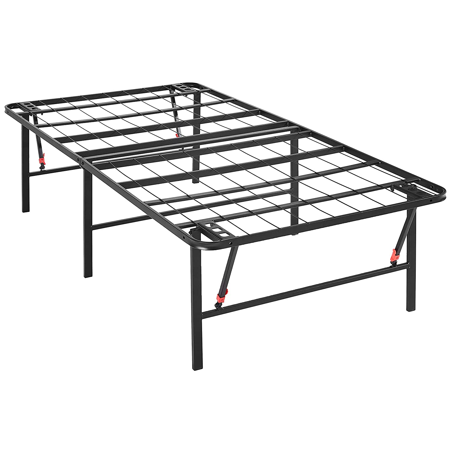 AmazonBasics Foldable Platform Bed Frame, Tool-Free Assembly, 18 Inch Height for Under-Bed Storage, Twin