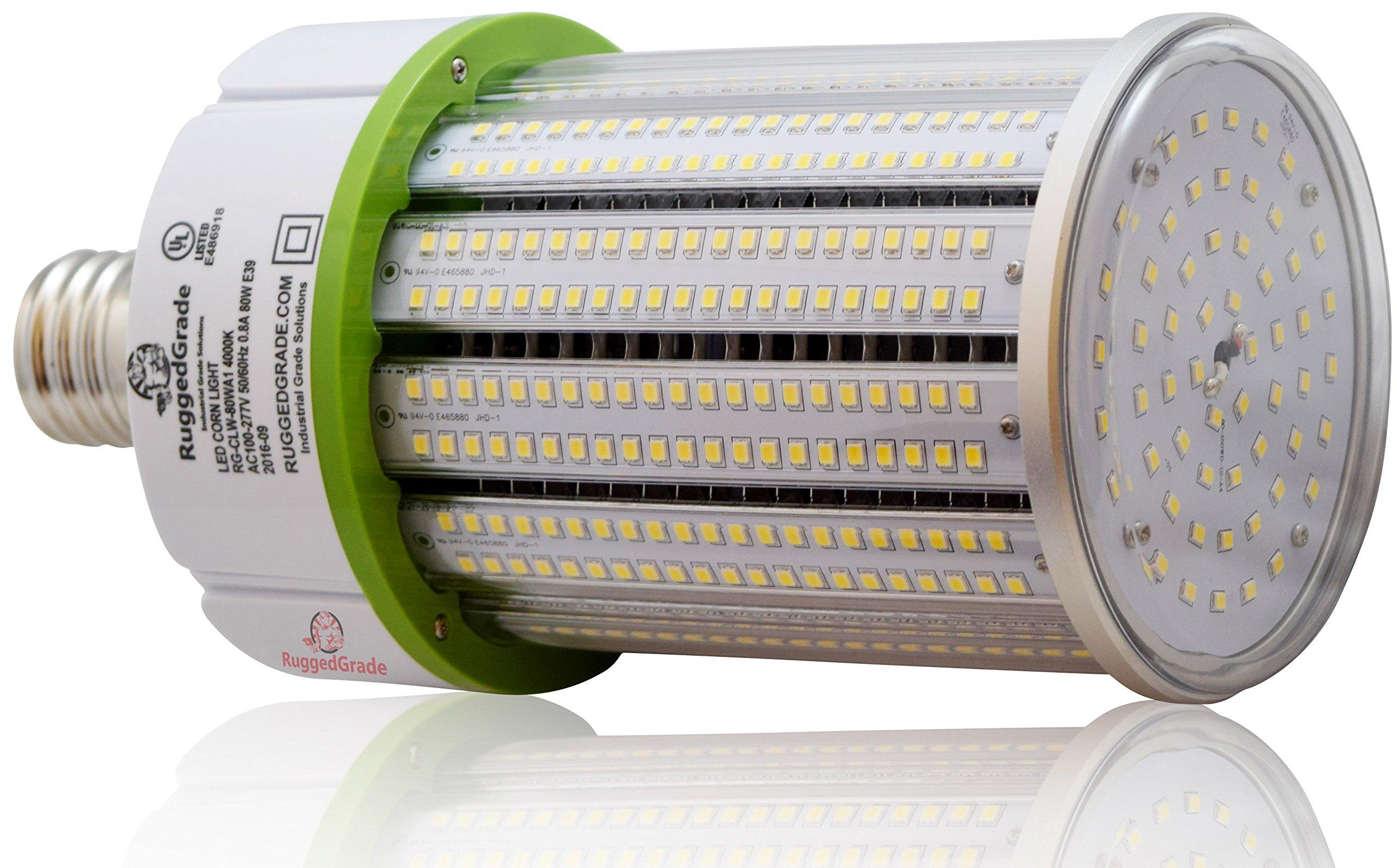 80 Watt E39 LED Bulb - 11,276 Lumens - 5000K -Replacement for Fixtures HID/HPS/Metal Halide or CFL - High Efficiency 125 Lumen/watt - 360 Degree Lighting - LED Corn Light Bulb