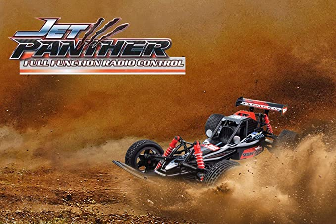 Topmaz RC Jet Panther Vehicle – 1:10 Scale, 2.4GHz Rechargeable