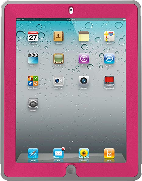 OtterBox Defender Series Case for iPad 2/3/4 Alpenglow (Peony Pink/Gunmetal Gray) (77-19708)