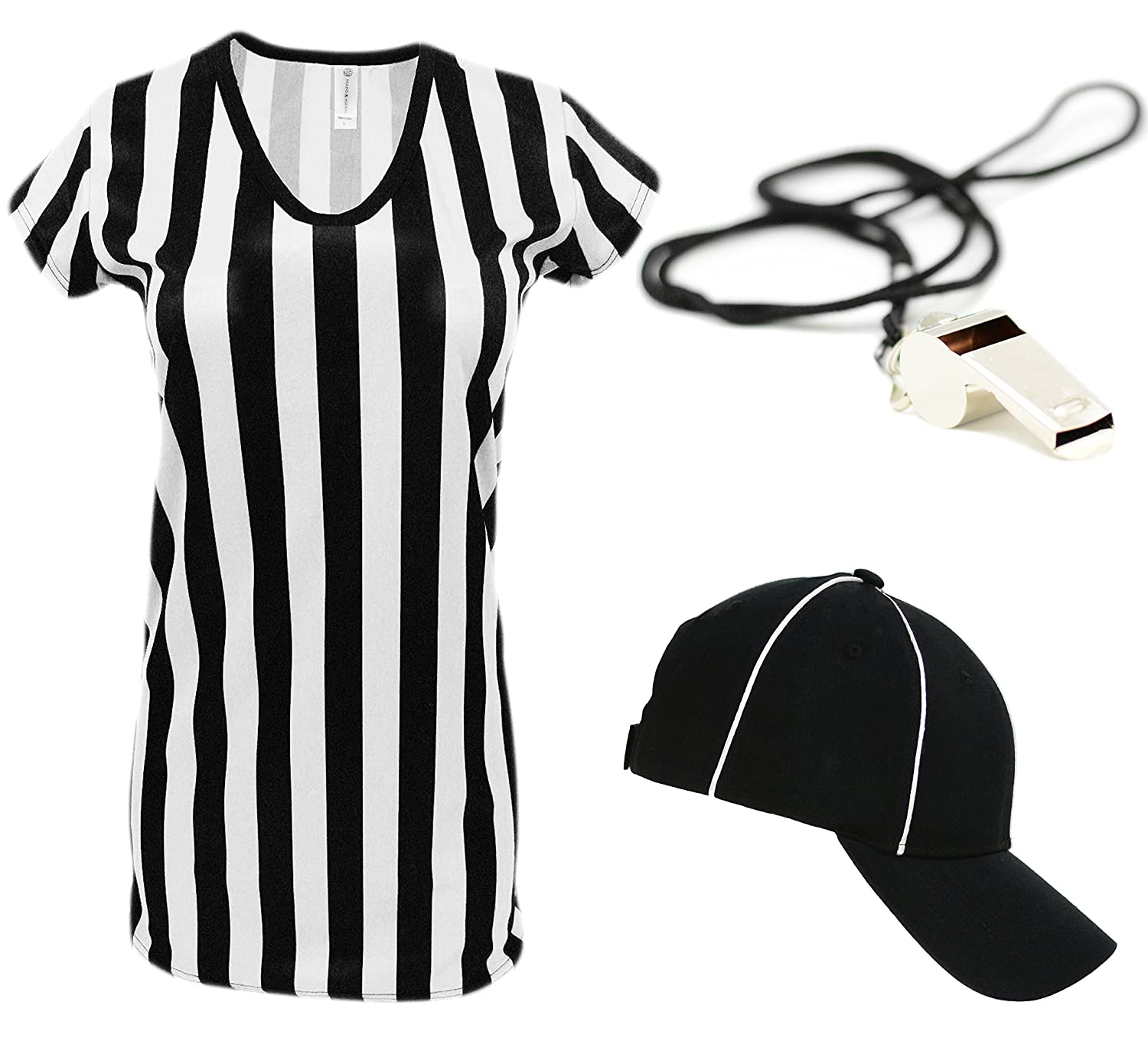 Womens Referee Shirts | Comfortable V-Neck Ref Shirt for Waitresses, Refs, More!