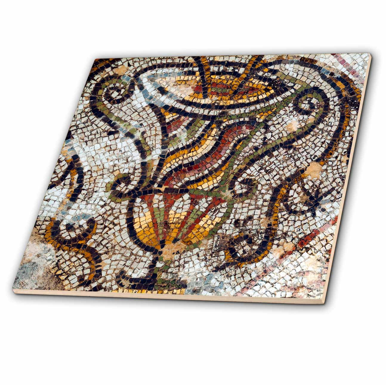 3dRose Danita Delimont - Artwork - Jar Mosaic, New House Of Hunt, Bulla Regia Archaeology Site, Tunisia - 8 Inch Glass Tile (ct_276611_7)