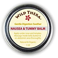Wild Thera Anti Nausea Balm. Natural Pregnancy Nausea Relief. Herbal Ginger Balm...
