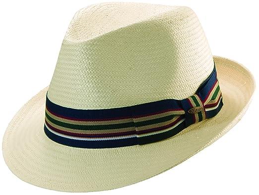 dcfd226f3ec3b Scala Mens Toyo Straw Ivory Fedora Hat