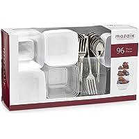 Mozaik Premium Plastic Mini Appetizer & Dessert Tasting Set (96 Pieces)