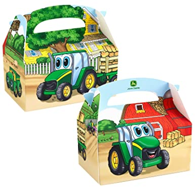 Amazon.com: Johnny Tractor Empty Favor Boxes (4 count) Party ...