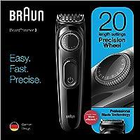 Braun Beard Trimmer BT3222, Trimmer and Hair Clipper for men, 20 Length Settings, Black