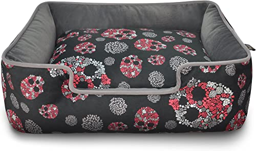 Pet Lifestyle and You Skulls and Roses Lounge Bed, Small