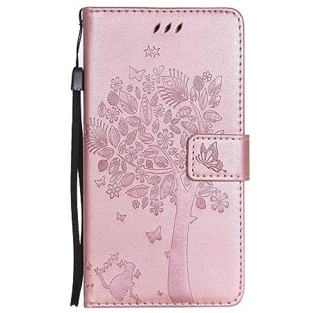 ISAKEN Kompatibel mit Galaxy Note 4 Hülle, PU Leder Flip Cover Brieftasche Ledertasche Handyhülle Tasche Case Schutzhülle mit