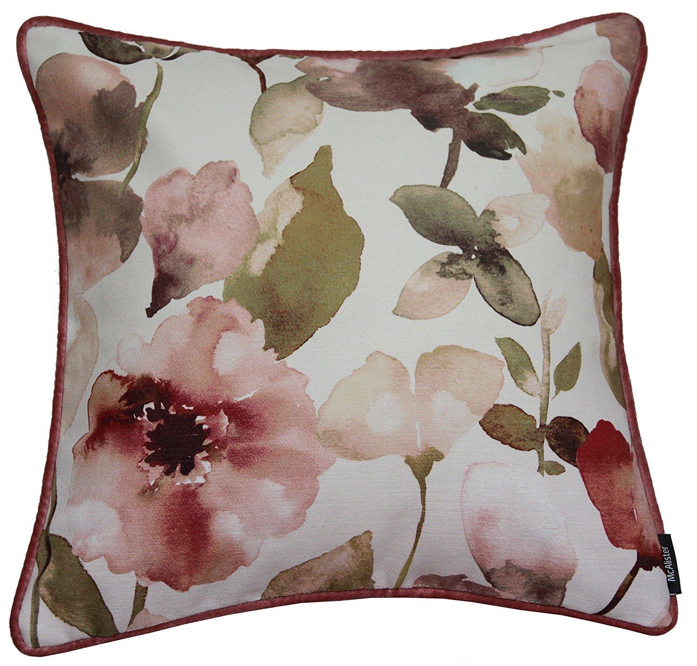 Cojines de flores y fundas, poliéster, especia, 43cm x 43cm McAlister Textiles