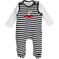 SALT AND PEPPER Baby-Jungen Strampler NB Playsuit Bear Stripe