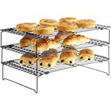 VonShef 3 Tier Stackable Cooling Rack Tray System Non-Stick