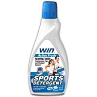 WIN Sports Detergent - Active Fresh (Blue) 1 Bottle - Specially Formulated for Sweaty Workout Clothes - Removes Odor…