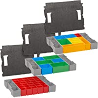 Bosch Sortimo L-box inlegzolen, set van 3 gereedschapskoffers voor LBoxx oud model en G4 met dekselbekleding, ideale…