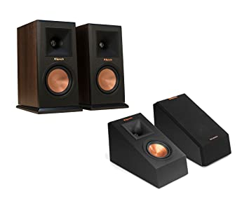 Klipsch RP 160M Bookshelf Speakers With 140SA Add On Dolby Atmos Height