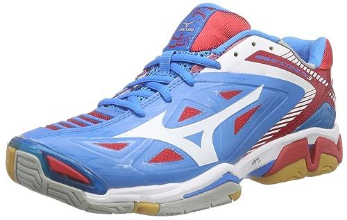 Mizuno Wave Stealth 3 - Zapatillas de Balonmano Mujer, Azul (Diva Blue/White/Chinese Red), 42: Amazon.es: Zapatos y complementos