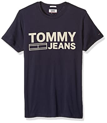 e38ba921 Tommy Hilfiger Denim Men's Logo T-Shirt with Short Sleeves: Amazon.in:  Clothing & Accessories